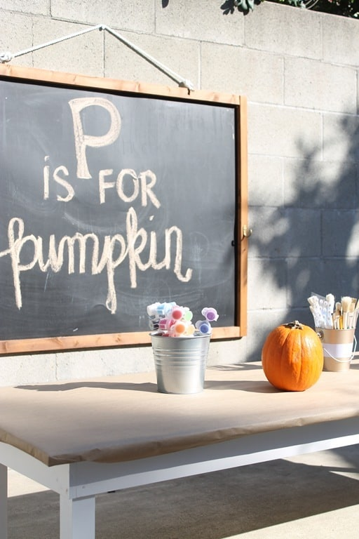 Pumpkin Painting Playdate | Ahrens at Home