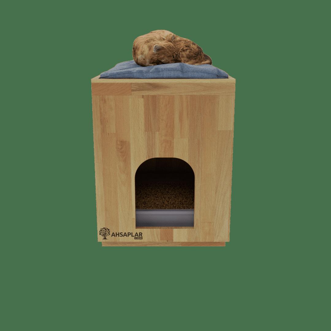 Kayın kedi evi