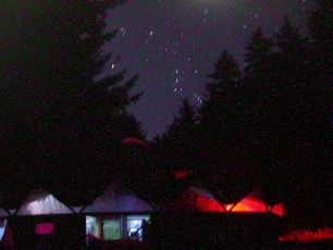 Night over the Main Yurt