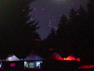Night over the Main Yurt