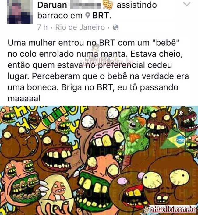 Barraco no BRT