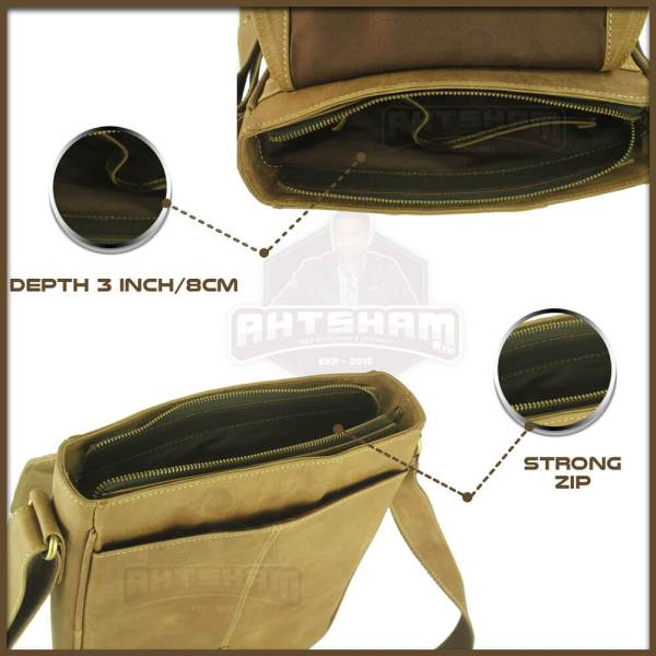 Depth-and-open-zip-Man-bag-labeled