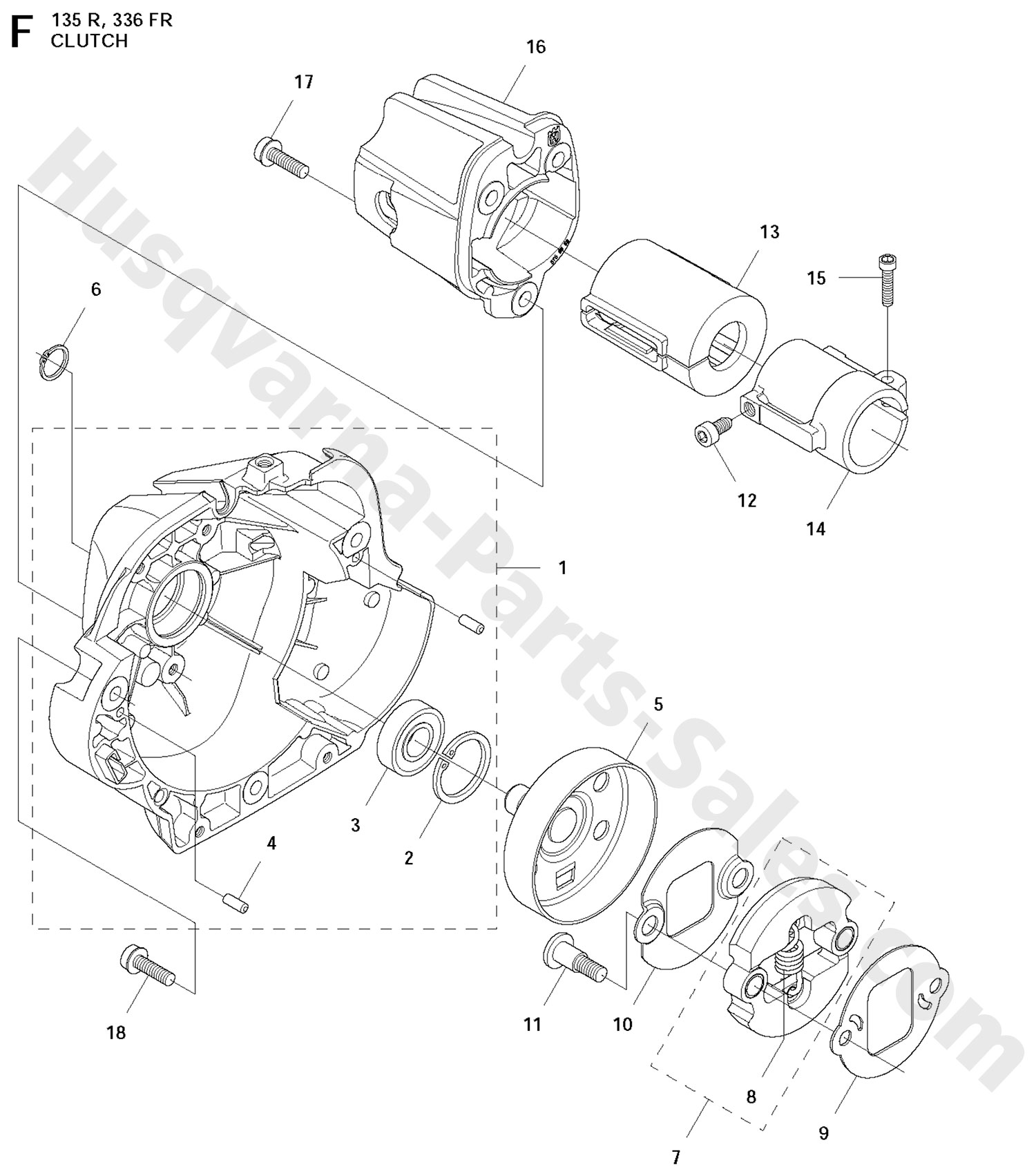 336fr Husqvarna Brushcutter Clutch Parts