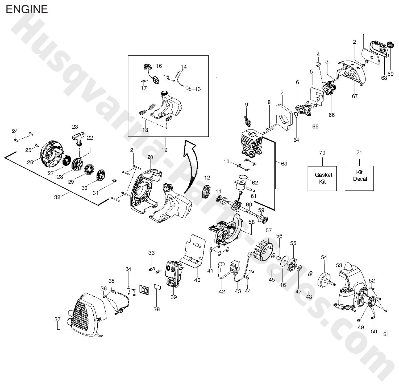 128cd Husqvarna Trimmer Amp Edger Trimmer Parts Engine Parts