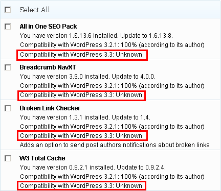 wordpress plugin compatibility