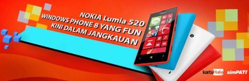 Nokia Lumia 520 terasa lebih lengkap Dengan Flash Optima dari simPATI