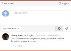 Cara Memasang Form Komentar Google+