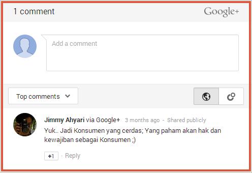 Cara Memasang Komentar Google+