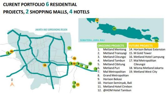 peta lokasi metland rumah idaman