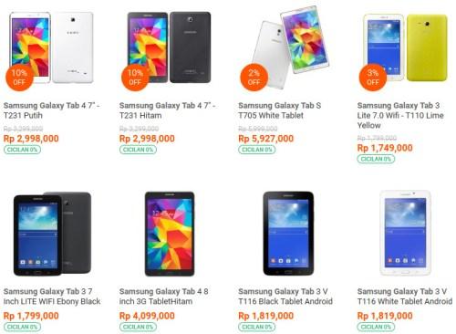 Jual tablet samsung Daftar harga Spesifikasi Terbaik