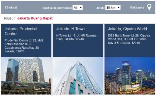 sewa tempat di Jakarta Regus Indonesia
