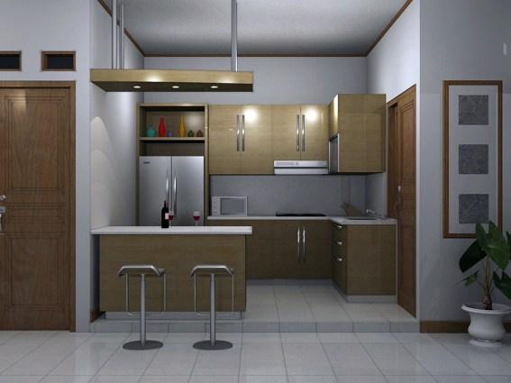 memanfaatkan sudut rumah untuk dapur minimalis keren