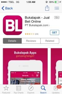Apps BukaLapak di App Store