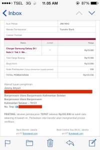 Email Detail Tagihan Pembayaran