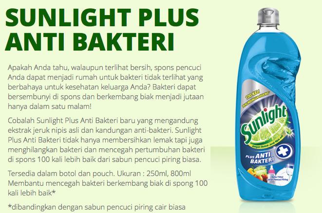 Spons Higienis dengan Sunlight Anti Bakteri