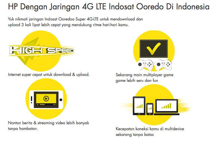 HP Dengan Jaringan 4G LTE Indosat Ooredo Di Indonesia