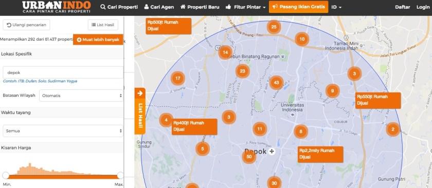 Pencarian Peta Urbanindo Rumah Minimalis Depok