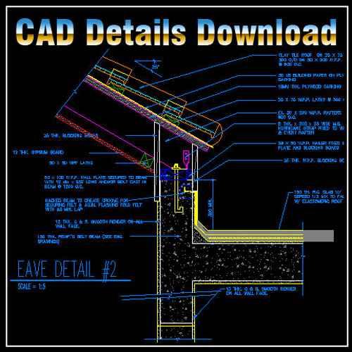 Ridge Eave & Parapet Details,Ridge Eave,Parapet Details,Ridge Eave & Parapet Design ,CAD drawings downloadable in dwg files