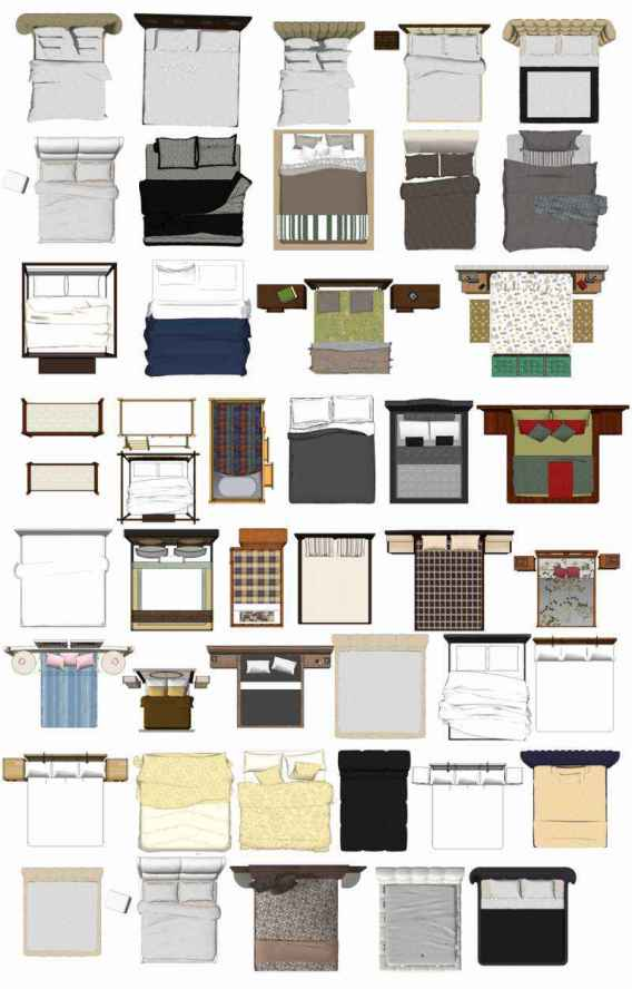 Free Photoshop Psd Bed Blocks 2 Architectural Autocad Drawings