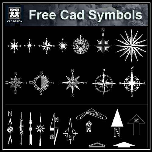 Free North Symbols – Architectural Autocad Drawings,Blocks,Details