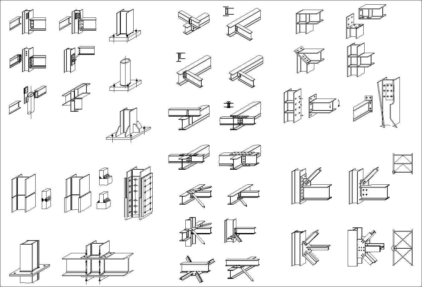 Steel Structure Details 1 Architectural Autocad Drawings