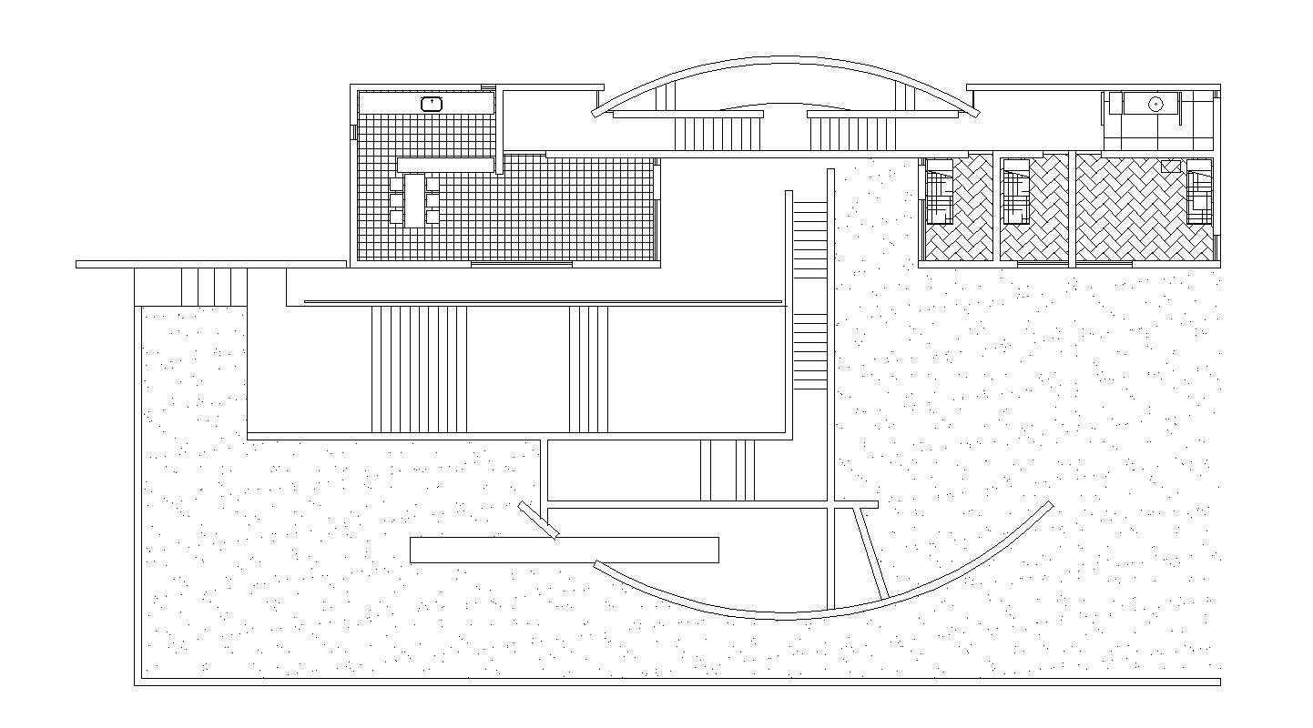 Tadao Ando Iwasa House Architectural Autocad Drawings