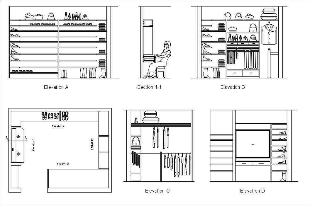 Furniture blocks-closet