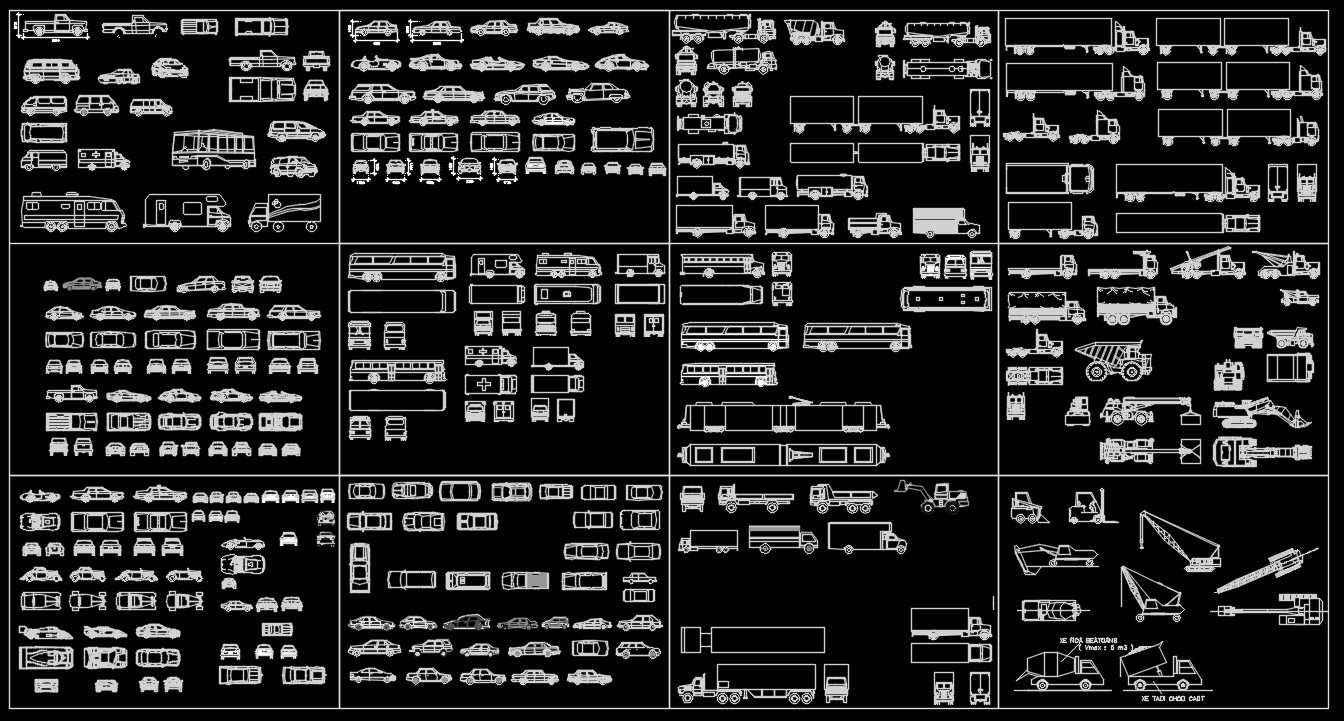 Transportation Blocks-cars,lorry