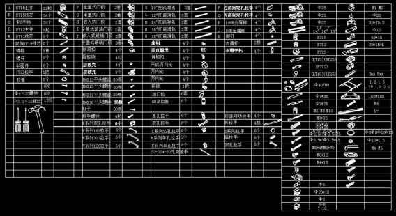 Over 2000 Hardware Accessories CAD blocks