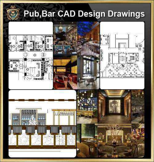 ★【Pub,Bar,Restaurant CAD Design Drawings】@Pub,Bar,Restaurant,Store design-Autocad Blocks,Drawings,CAD Details,Elevation