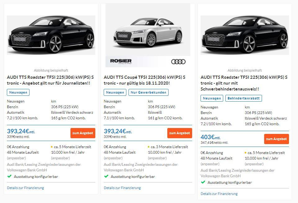 Audi Mieten trotz Schufa