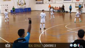 Davide durante la gara tra Real Cefalù e Cataforio