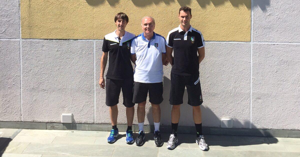 Gariglio, Berger e Falca in posa per la foto di rito