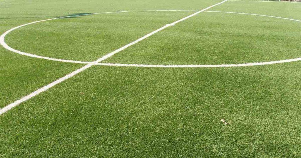 Un campo di calcio.