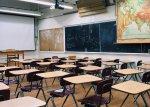 Inside a school classroom