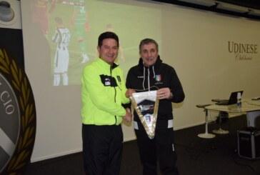 Valentino Menegoz del Settore Tecnico ospite a Udine
