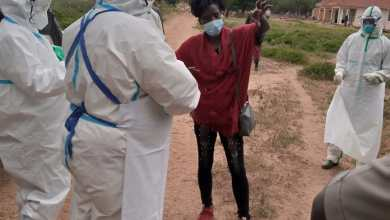 Photo of Kenyan COVID 19 patient who escaped from Moroto Hospital handed back to Kenya.
