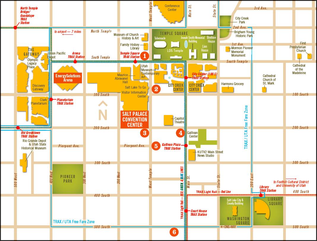 International Center Salt Lake City Map