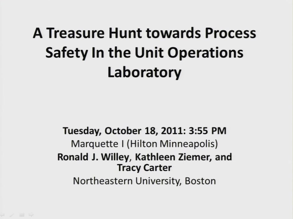A Treasure Hunt Towards Process Safety In The Unit