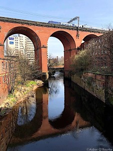 Stockport viaduct and River Mersey