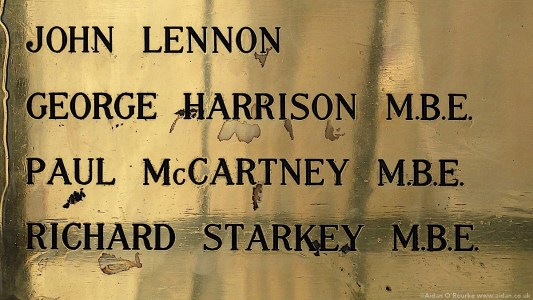 Liverpool town hall Beatles plaque