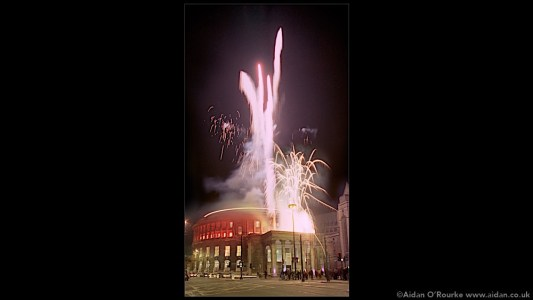 Central Library fireworks Manchester 1998
