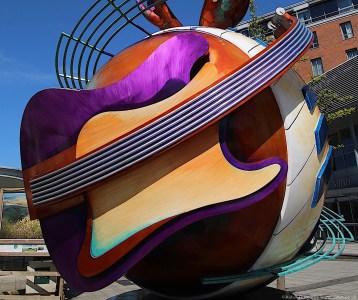 John Lennon Peace Monument guitar, Liverpool