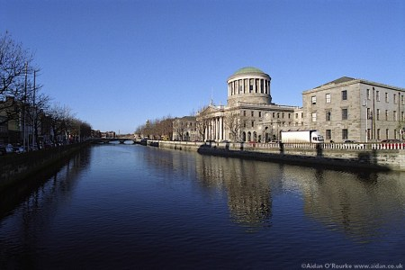 The Four Courts and River Liffey Dublin 2004