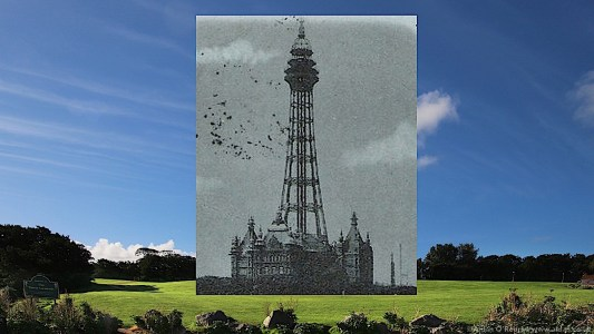 The Tower Ballroom and old photo of the tower