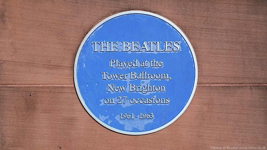 The Beatles blue plaque Tower Ballroom