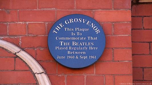 The Grosvenor Ballroom plaque