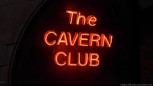 The Cavern Club neon sign