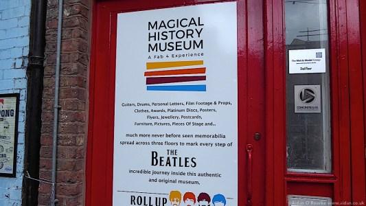 Magical History Museum sign, Mathew Street