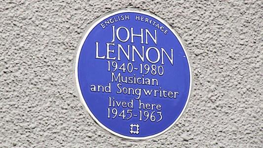 John Lennon blue plaque 252 Menlove Avenue